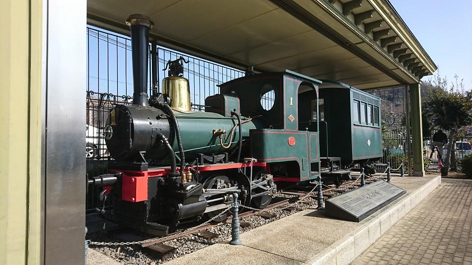初代「坊ちゃん列車」。ドイツ製です。