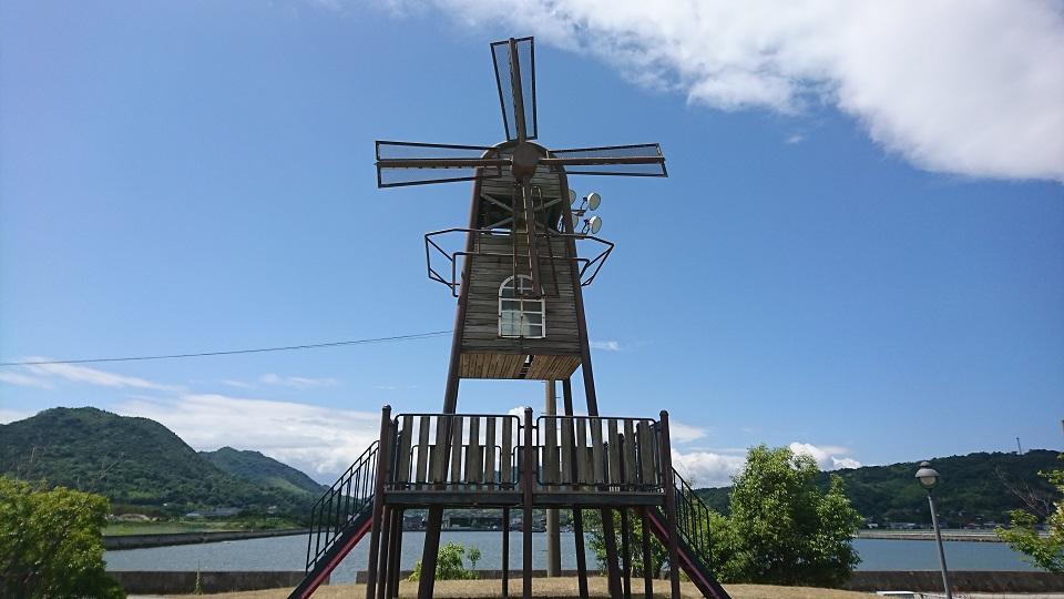 ドン・キホーテを連想させる風車。